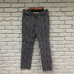 Ann Taylor Black/White Speckled Modern Fit Pants 6
